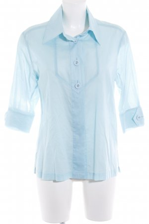 Escada Oversized Bluse babyblau Casual-Look