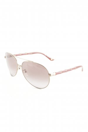 Escada Pilot Brille dunkelrot-goldfarben Beach-Look