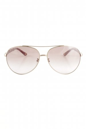 Escada Aviator Glasses dark red-gold-colored beach look