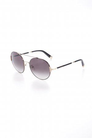 Escada Pilot Brille schwarz-goldfarben Street-Fashion-Look