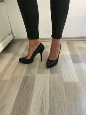 Escada Plateau Pumps schwarz 40 Boho Blog Blogger Highheels
