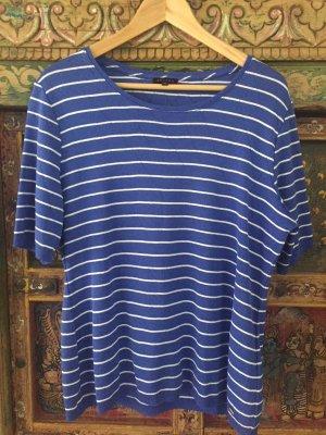 Escada Jersey de manga corta blanco-azul Algodón