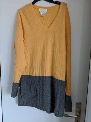 Escada Maglione di lana giallo-oro-grigio