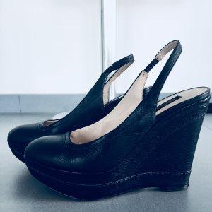 Escada Couture Sandalo con tacco blu scuro
