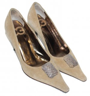 Escada High Heels light brown suede