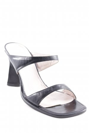 Escada Strapped Sandals black elegant