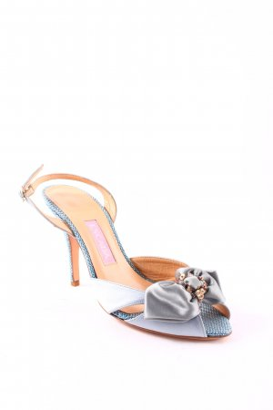 Escada Strapped High-Heeled Sandals pale blue elegant