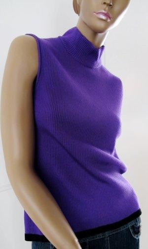 ESCADA Rolli/Top Gr. 40/42 in dunklem Violett 80% Schurwolle