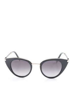Escada Round Sunglasses black-gold-colored extravagant style