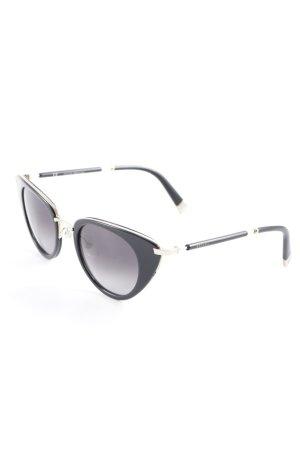 Escada Round Sunglasses black-gold-colored extravagant style