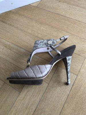Escada Sandalo con cinturino beige Pelle