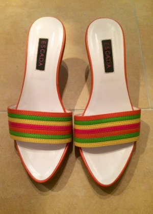 Escada Strapped Sandals multicolored leather