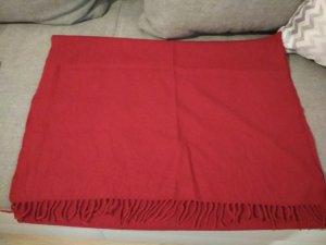 Escada Bufanda de lana rojo ladrillo-rojo lana de esquila