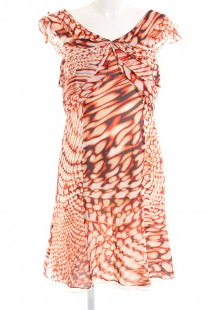 Escada Off-The-Shoulder Dress cream-red abstract pattern elegant