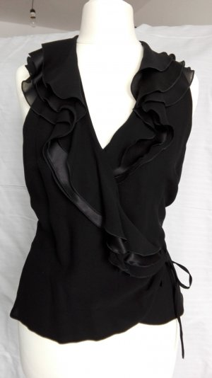 Escada Wraparound Blouse black silk