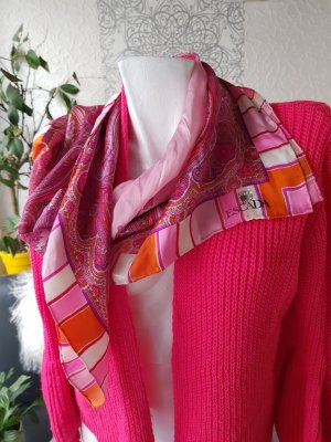 ESCADA Seidentuch Schal 100% Seide rosa pink 85x85 cm