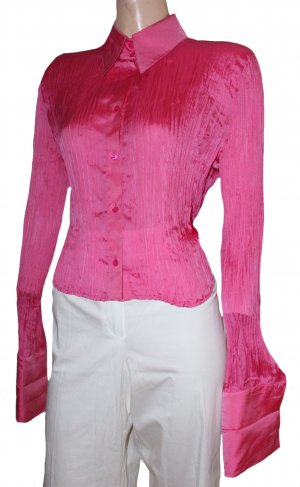 ESCADA sexy Seiden Bluse langarm pink Gr. 38