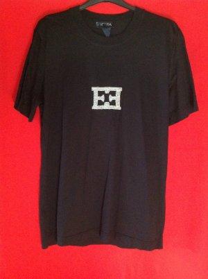 Escada Margaretha Ley Camisa holgada negro-blanco Algodón