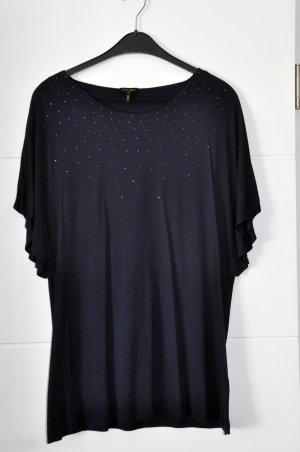 Escada Shirt Gr XL nachtblau mit Swaroski Steinen