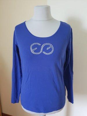Escada Shirt Langarm mit Logo Gr L= 40