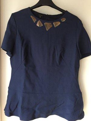 Escada Shirt mit goldenen Applikationen