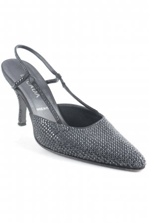 Escada Slingback-Pumps schwarz Glitzer-Optik