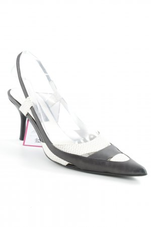 Escada slingback Pumps black and white