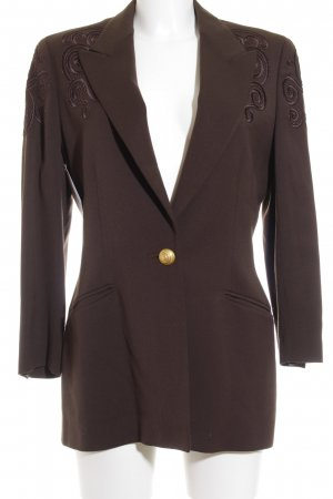 Escada Smoking-Blazer bronzefarben-dunkelgelb Business-Look