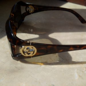 Escada Butterfly Glasses bronze-colored-light brown synthetic material