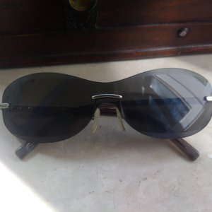 Escada Oval Sunglasses dark grey synthetic material