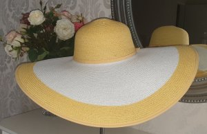 Escada Chapeau de soleil blanc-jaune