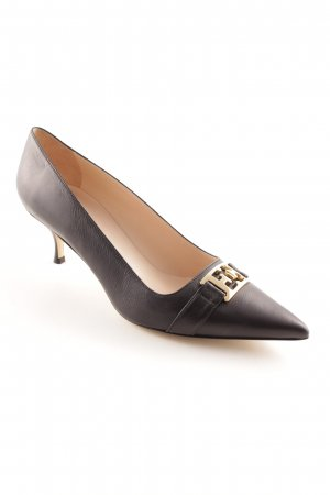 Escada Spitz-Pumps schwarz-goldfarben Business-Look