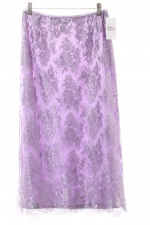Escada Lace Skirt lilac-silver-colored elegant