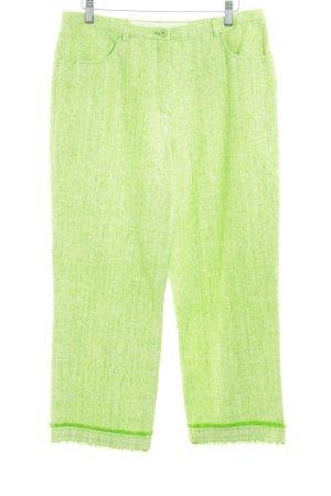 Escada Sport 7/8-Hose weiß-grasgrün meliert Casual-Look