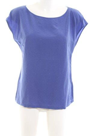 Escada Sport ärmellose Bluse blau Punktemuster Casual-Look