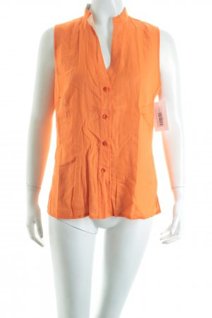 Escada Sport ärmellose Bluse orange Casual-Look