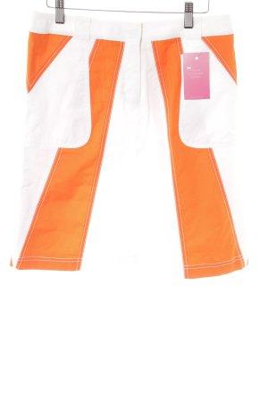 Escada Sport Jupe asymétrique blanc-orange foncé style athlétique