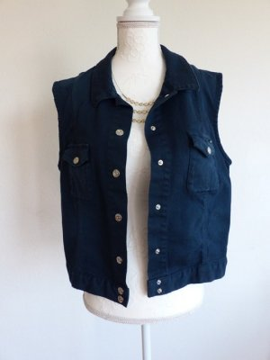Escada Sport Denim Vest blue cotton