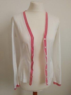 Escada Sport Cardigan Elegant in Weiß Rot