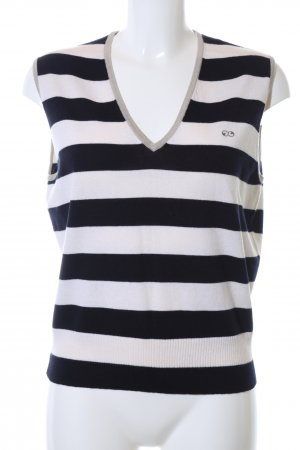 Escada Sport Fine Knitted Cardigan black-natural white striped pattern
