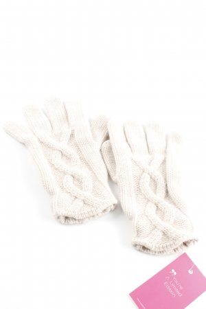 Escada Sport Gloves beige cable stitch casual look