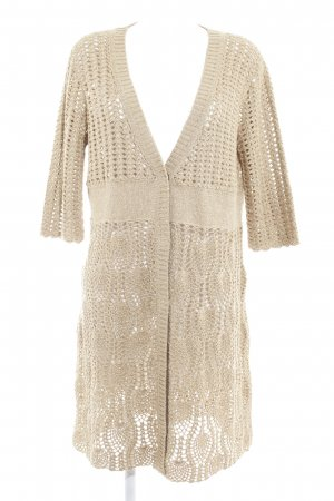 Escada Sport Coarse Knitted Jacket gold-colored loosely knitted pattern