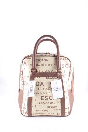 Escada Sport Handtasche hellbeige-braun Monogram-Muster klassischer Stil