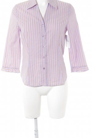 Escada Sport Blouse-chemisier violet-orange clair motif rayé
