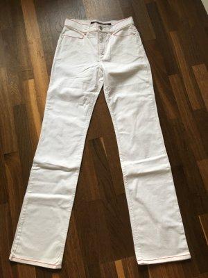ESCADA Sport Jeans weiß mit Ziernähten Gr. 36 weiß