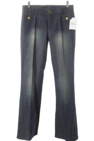 Escada Sport Jeansschlaghose dunkelblau-grüngrau Jeans-Optik
