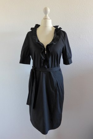 Escada Sport Kleid Sommerkleid Business Rüschen schwarz Gr. 38 S
