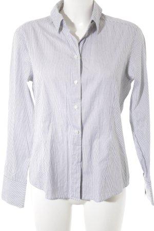 Escada Sport Langarmhemd schwarz-weiß Streifenmuster Business-Look