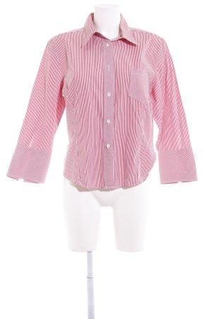 Escada Sport Langarmhemd weiß-rot Streifenmuster Casual-Look