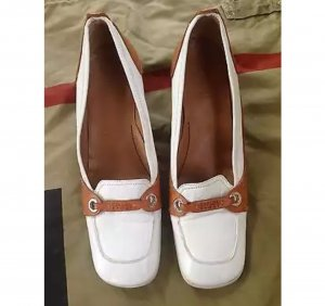 Escada Sport Wingtip Shoes white-light brown leather